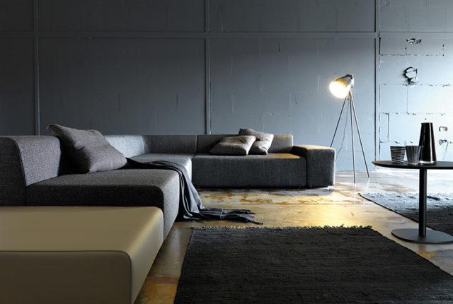 Doimo Salotti - Domino divano colori scuri per arredo neo dark.