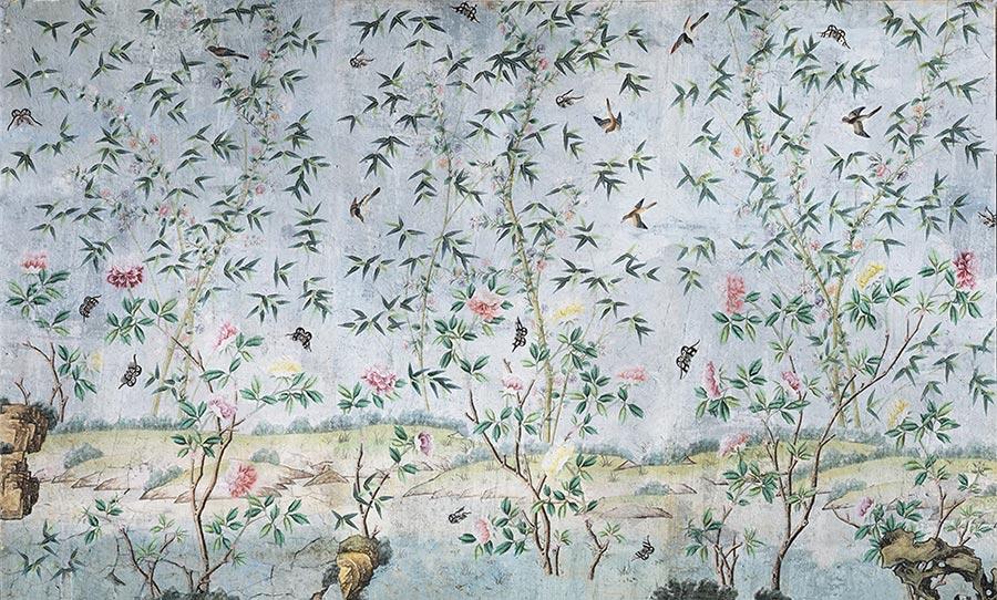 Carta da parati giardino segreto floreale.