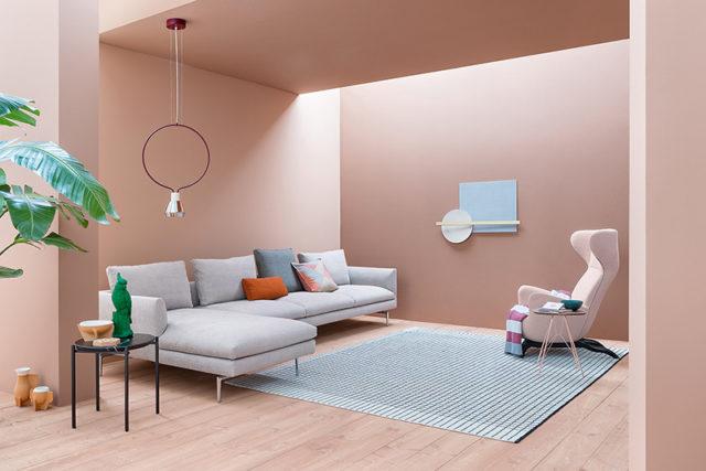 Zanotta divano Flamingo colore grigio.