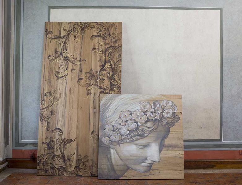L arte di dipingere un tavolo in legno modaearredamento for Piccoli oggetti in legno fatti a mano