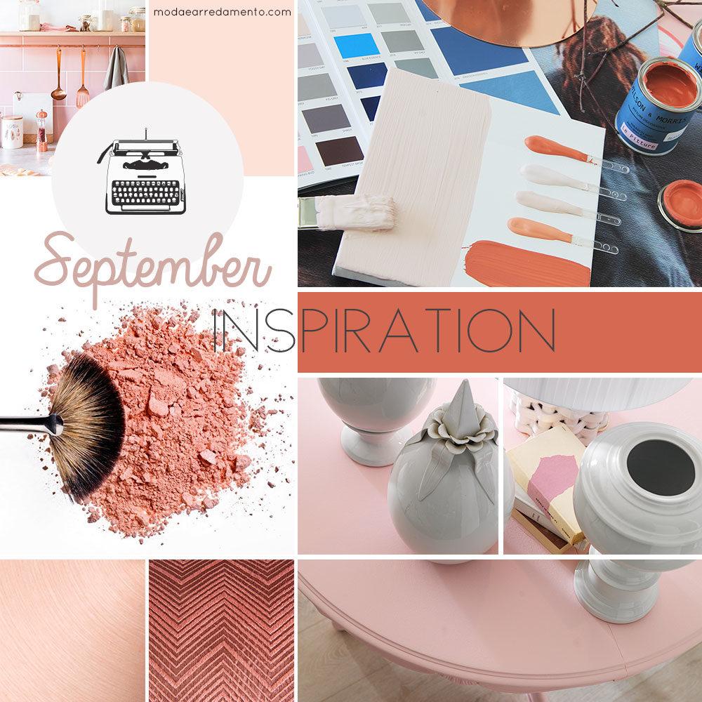 Moodboard ispirazioni arrredo a Settembre - colori, abbinamenti, tendenze.