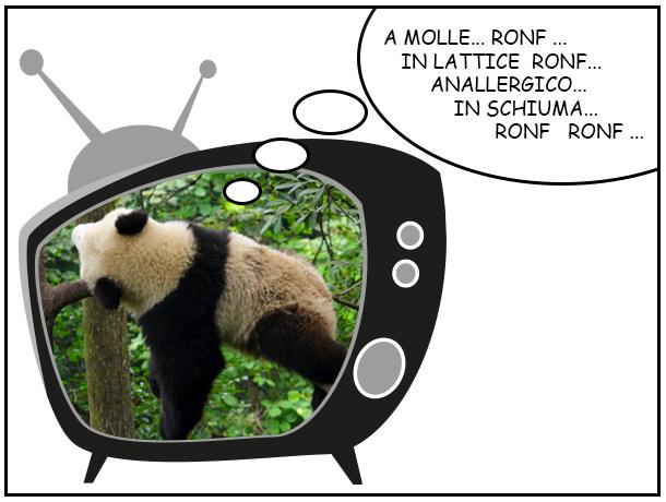 TIPOLOGIE DI MATERASSO panda che dorme