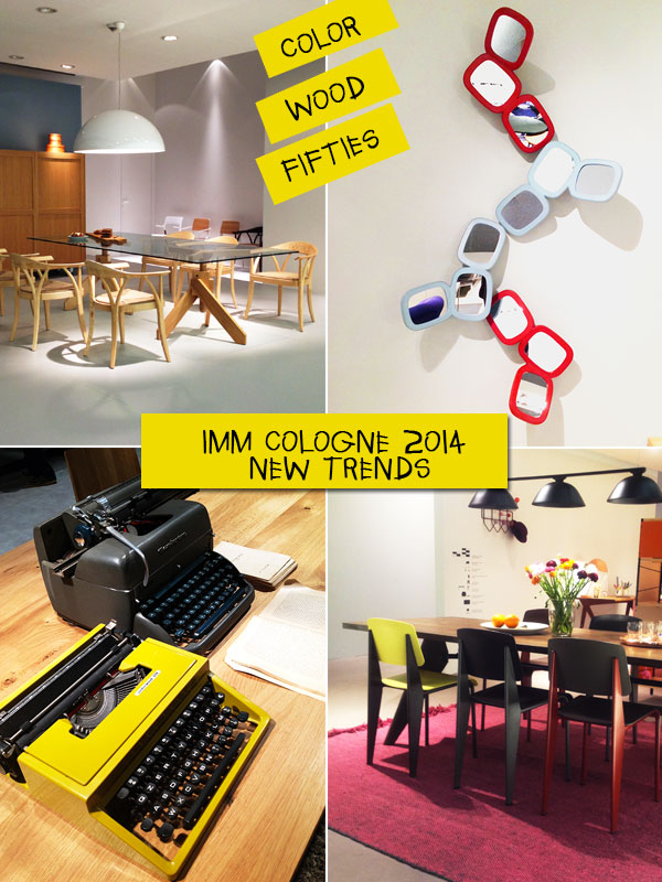 Imm Cologne 2014 : i nuovi trends parlano di legno, colore e atmosfere fifties.