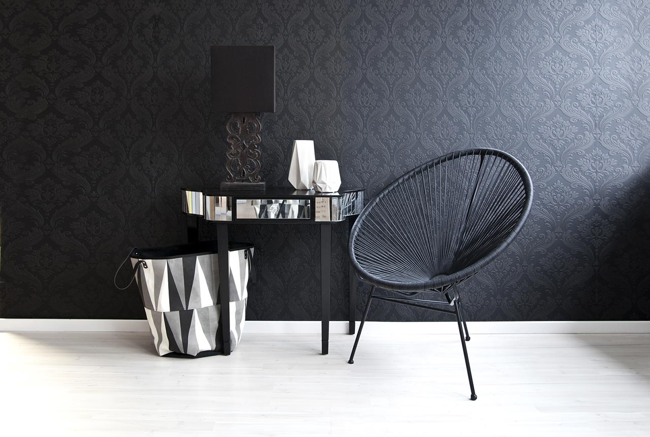 Black, white and shade of gray design.