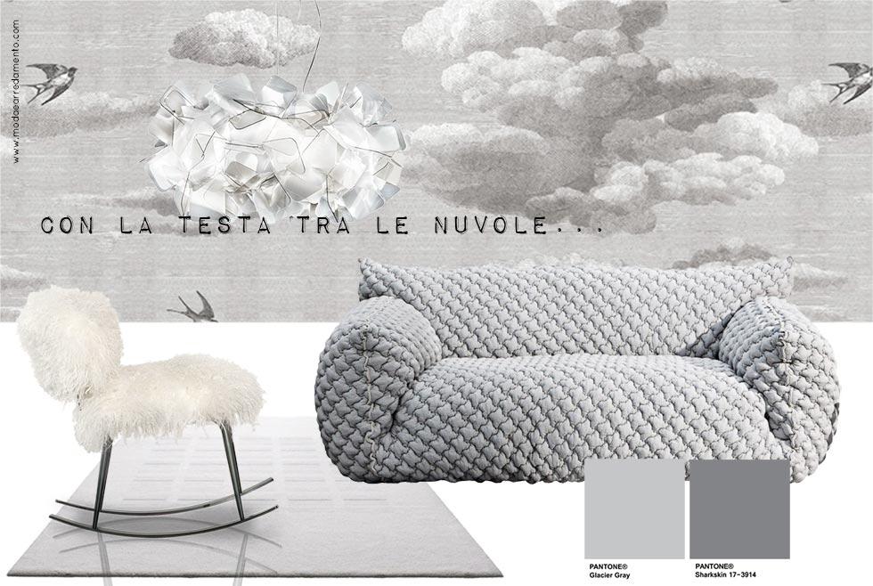 Design con la testa tra le nuvole: moodboard di stile.