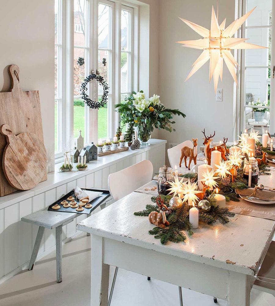 Dalani la casa total white a Natale.