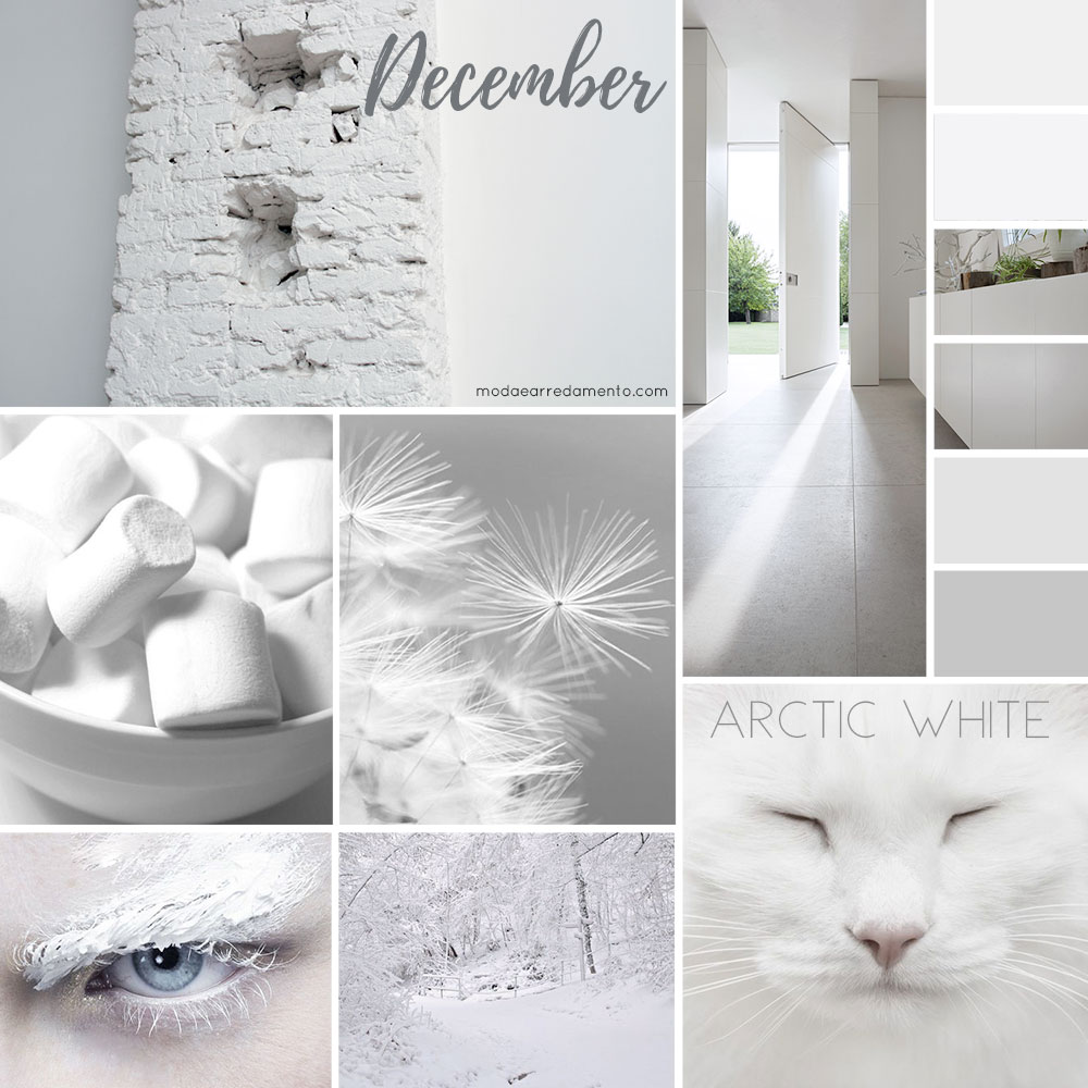 Moodboard modaearredamento dicembre 2017 - bianco artico