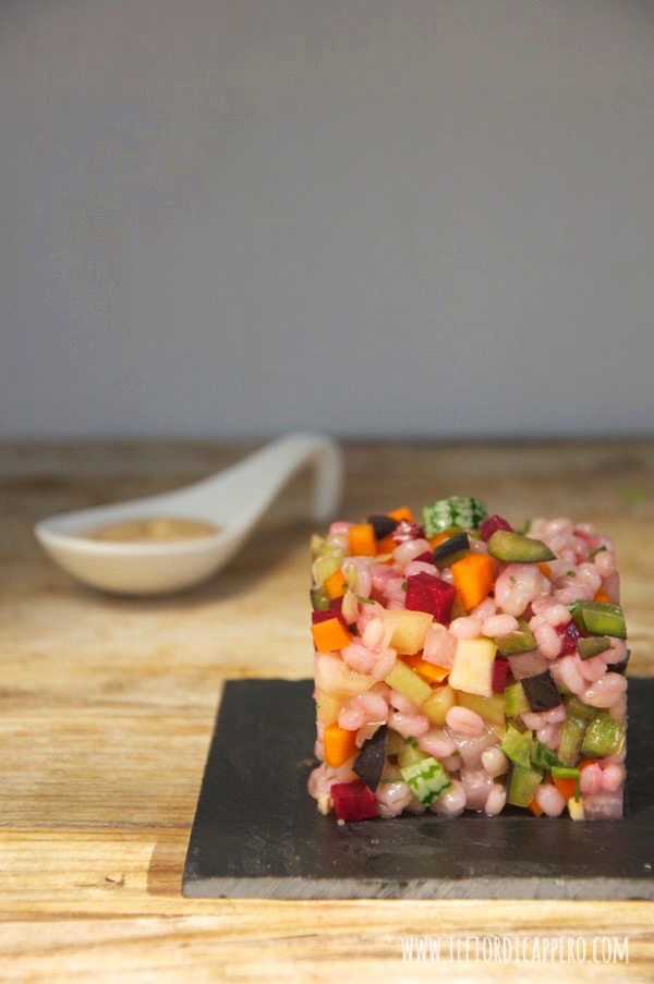 Tartare di verdure - ricetta del food blog Fior di Cappero.