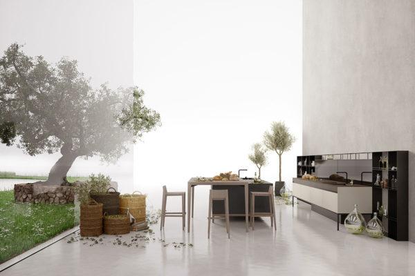 Gruppo Euromobil - cucina Sei design Marc Sadler.