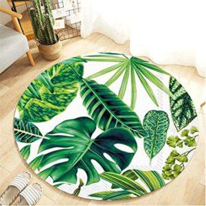 tappeto rotondo con foglie