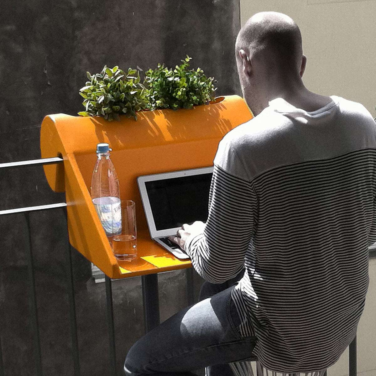 home office in terrazza