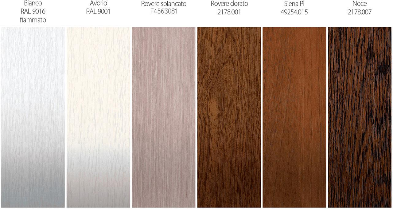 colori standard Oknoplast pvc